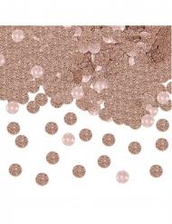 Confettis de table ronds pailletés roses gold 20 gr