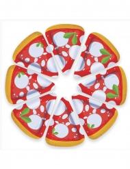 8 Assiettes en carton pizza 19 x 25 cm