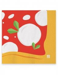 20 Serviettes en papier pizza 33 x 33 cm