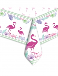 Nappe en plastique flamingo party 140 x 270 cm