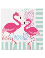 20 Serviettes en papier flamingo party 33 x 33 cm