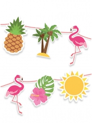 Guirlande en carton flamingo party 600 x 25 cm