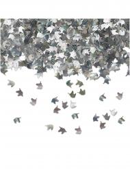 Confettis de table licorne argentés 15 gr