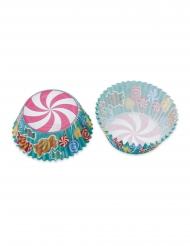 48 Moules à cupcake confiseries 5 x 3 cm
