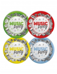 8 Petites assiettes en carton music party 18 cm