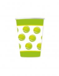 8 Gobelets en carton balle de tennis 200 ml