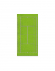 20 Serviettes en papier terrain de tennis 40 x 33 cm