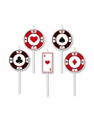 5 Bougies sur pic big poker 8 cm