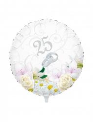 Ballon en aluminium 25 ans de mariage 45 cm
