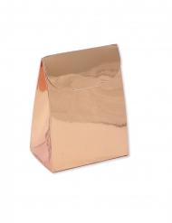 25 Contenants en carton roses gold métalliques 6 x 8 x 3,5 cm