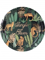 8 Assiettes en carton jungle fever 23 cm