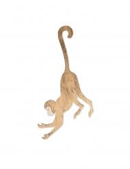 Singe à suspendre en bois doré 20 x 39 cm