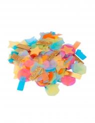 Confettis multiformes multicolores et paillettes dorées 15 gr 2 cm