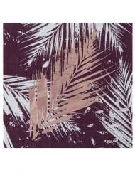 20 Petites serviettes végétal métal rose gold 12,5 x 12,5 cm