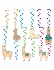 12 Suspensions en spirales lamas 43 - 81 cm