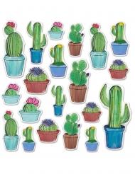 20 Cutouts en carton cactus 7 - 38 cm