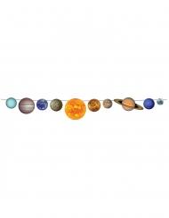 Guirlande en carton système solaire 2,43 m