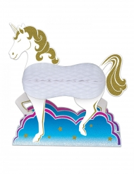 Centre de table en papier licorne blanche 25 cm