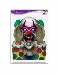 Autocollant clown effrayant 30 x 43 cm
