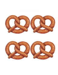 4 Découpes en carton bretzels 27 cm