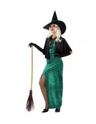 Déguisement sorcière de l'ouest verte femme