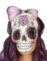 Masque squelette dia de los muertos effet cuir et feutre adulte