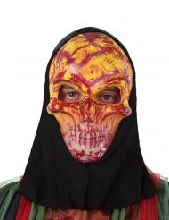 Masque squelette rouge adulte