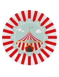8 Assiettes en carton circus 23 cm