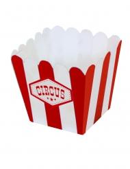 12 Mini boîtes à popcorn en carton circus 6,5 x 4,5 cm