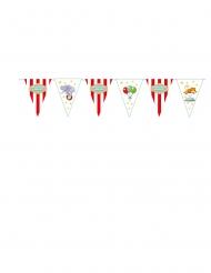 Guirlande fanions en carton circus 3 m
