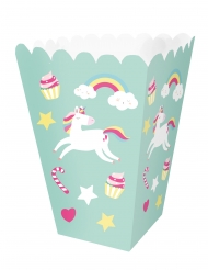 12 Boîtes à popcorn en carton licorne Unicorn 12 x 5 x 5 cm