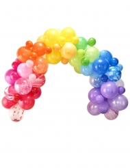 Kit arche de 85 ballons en latex multicolores