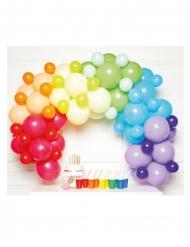Kit arche de 85 ballons en latex multicolores