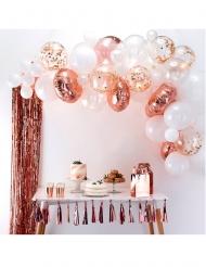 Kit arche de 50 ballons en latex rose gold