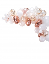 Kit arche de 50 ballons en latex rose gold