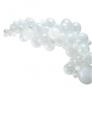 Kit arche de 70 ballons en latex blancs