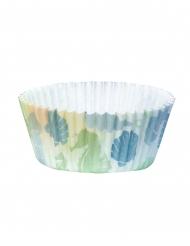 50 Moule à cupcakes Sirène Lagune en papier 6,5 cm