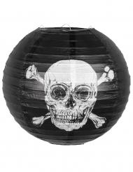 Lanterne en papier Pirate Jolly Roger noire 25 cm