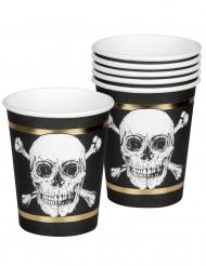 6 Gobelets en carton Pirate Jolly Roger 25 cl