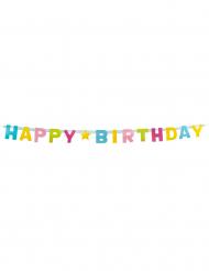 Guirlande lettres Happy Birthday en carton 150 cm