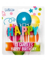 13 Bougies sur pic Confettis Happy Birthday