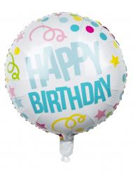 Ballon aluminium Confettis Happy Birthday 45cm