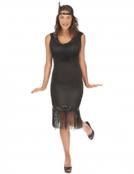 Déguisement grande taille robe Charleston noire femme