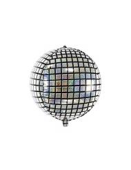 Ballon aluminium boule de disco 40 cm