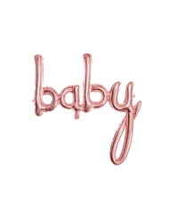 Ballon aluminium baby rose gold 73,5 x 75,5 cm