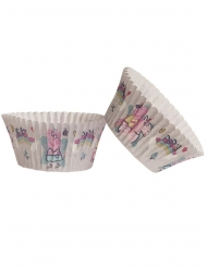 25 Moules à cupcakes en papier Peppa Pig™ 5 x 3 cm