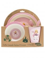 Coffret vaisselle en bambou princesse 5 pièces