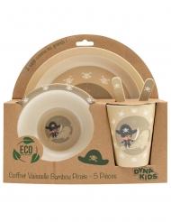 Coffret vaisselle en bambou pirate 5 pièces