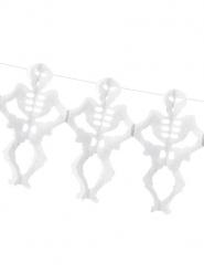 Guirlande en papier squelette blanche 3 m
