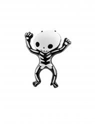 Ballon en aluminium squelette blanc et noir 84 x 10 cm